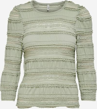 ONLY T-shirt en vert pastel, Vue avec produit