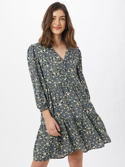 OBJECT Košilové šaty 'Fiona' - námořnická modř / chladná modrá / žlutá / nefritová, Model/ka