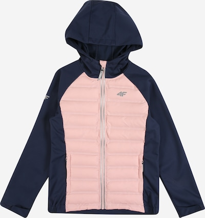 4F Outdoor jacket in navy / dusky pink, Item view