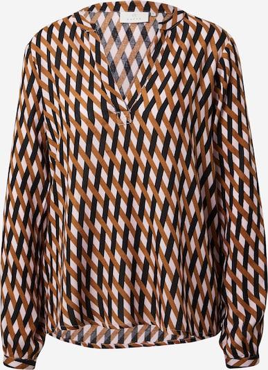 Kaffe Bluse 'Ajana' in beige / orange / schwarz, Produktansicht