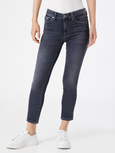7 for all mankind Jeans 'ROXANNE' in grey denim, Modelansicht