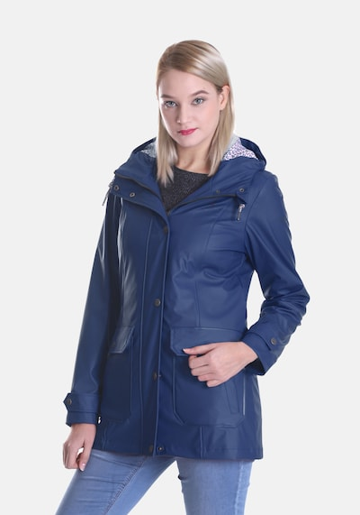 Dingy Rhythm Of The Rain Regenjacke 'Friesennerz' in blau: Frontalansicht