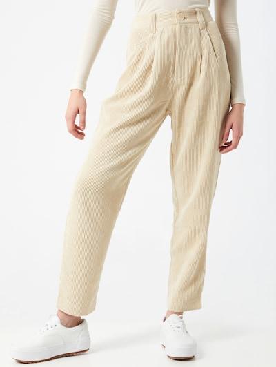 Klostuotos kelnės 'Ebba' iš Gina Tricot , spalva - smėlio, Modelio vaizdas
