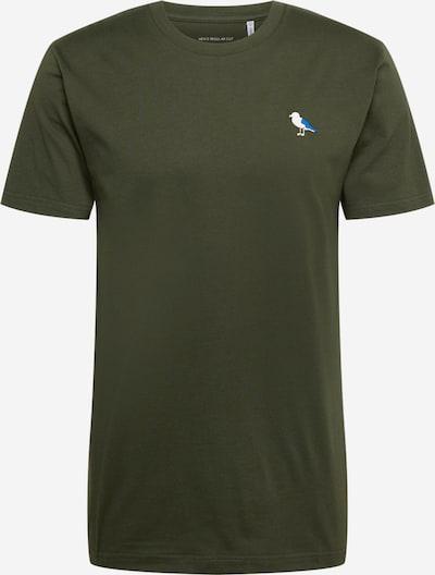 Cleptomanicx Shirt 'Embro Gull' in blau / dunkelgrün / weiß, Produktansicht