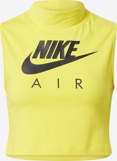 Nike Sportswear Top u žuta: Prednji pogled
