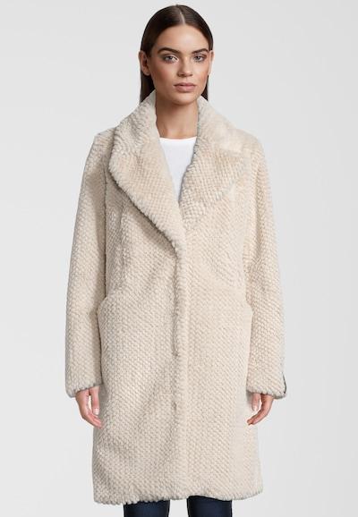 RINO & PELLE Teddyfellmantel 'Alenka' in beige, Modelansicht
