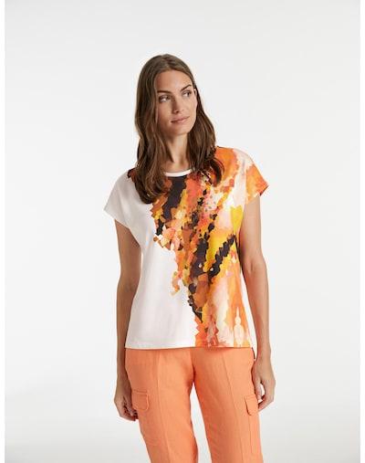 TAIFUN T-shirt en marron / orange / homard / blanc: Vue de face