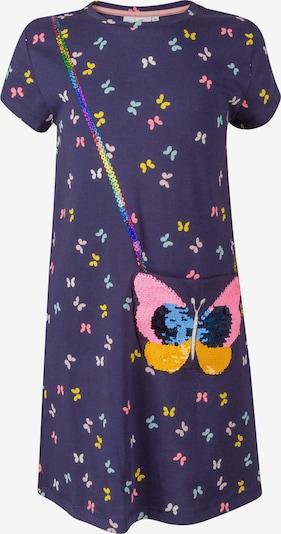 happy girls Kleid in hellblau / dunkelblau / gelb / rosa / rotviolett, Produktansicht