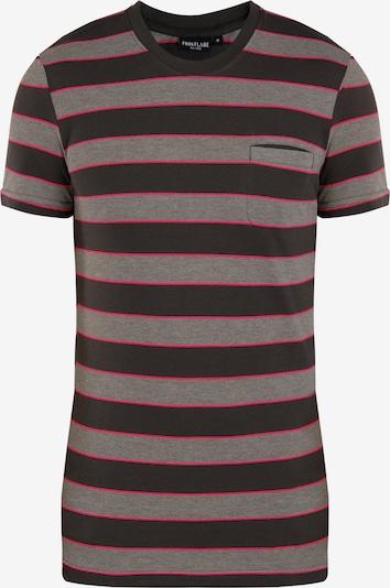 Finn Flare T-Shirt in basaltgrau / magenta / schwarz, Produktansicht