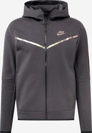 Nike Sportswear Fleecejacka i mörkgrå / silver, Produktvy