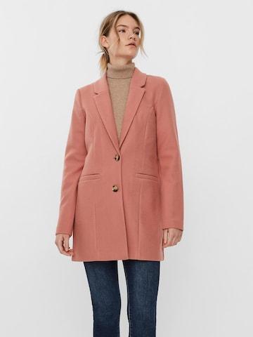 VERO MODA Prechodný kabát 'VMDAFNEJANEY' - ružová