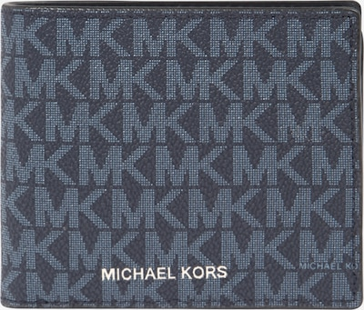 Michael Kors Porte-monnaies en bleu nuit / gris / blanc, Vue avec produit
