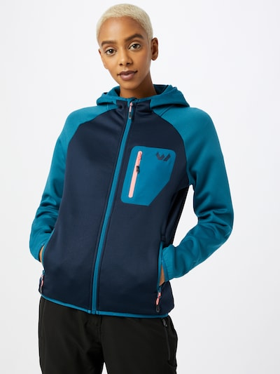 Whistler Sportjacke 'Tora' in blau / navy / lachs: Frontalansicht