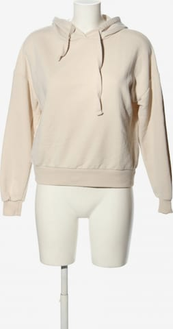 Pull&Bear Kapuzensweatshirt in XS in Beige