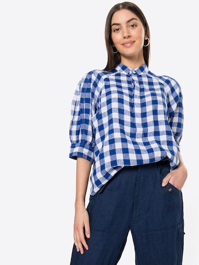POLO RALPH LAUREN Bluse in taubenblau / himmelblau / weiß, Modelansicht