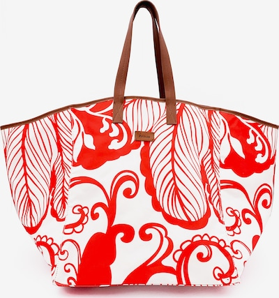 Kamoa Badetasche in rot / weiß, Produktansicht