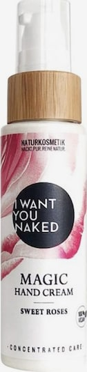 I Want You Naked Handcreme 'Sweet Roses Magic' in weiß, Produktansicht