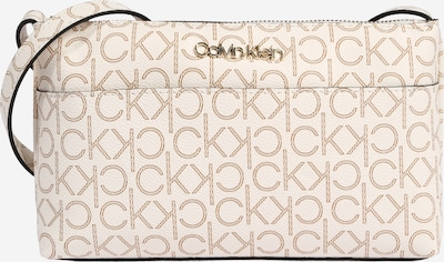 Calvin Klein Tasche in creme / dunkelbeige: Frontalansicht