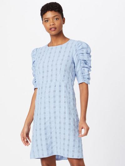 ONLY Kleid 'Kia' in kitt / rauchblau / hellblau, Modelansicht