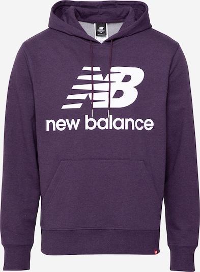 new balance Sweatshirt in dunkellila / weiß, Produktansicht