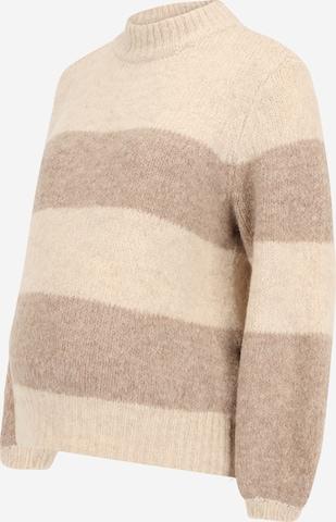 Pieces Maternity Sweater 'Fania' in Beige