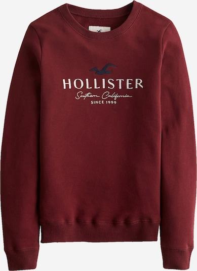 HOLLISTER Sweatshirt in nachtblau / blutrot / weiß, Produktansicht
