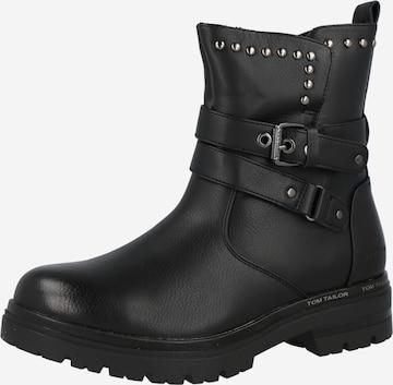 TOM TAILOR Støvlett i svart
