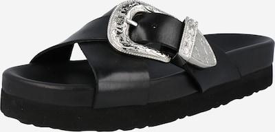 Saboți 'ROADIE' Y.A.S pe negru / argintiu, Vizualizare produs
