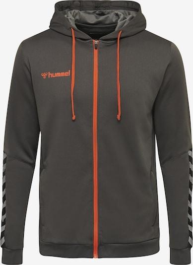 Hummel Sportsweatvest in de kleur Donkergrijs / Sinaasappel, Productweergave