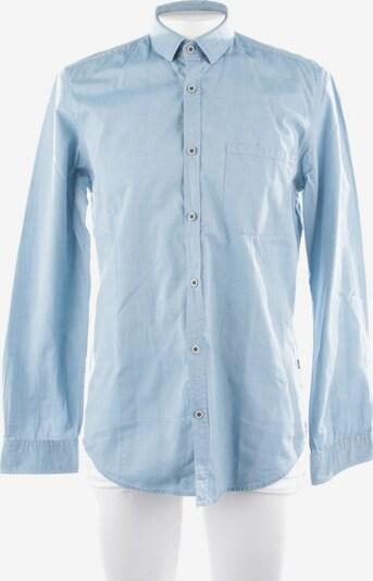 HUGO BOSS Freizeithemd / Shirt / Polohemd langarm in M in hellblau, Produktansicht