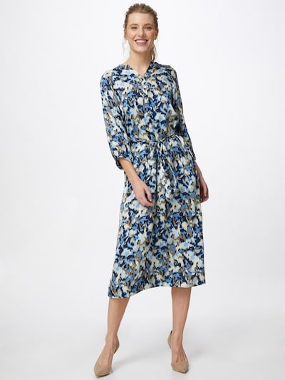 Soyaconcept Kleid 'OANA' in marine / hellblau / taupe / weiß, Modelansicht