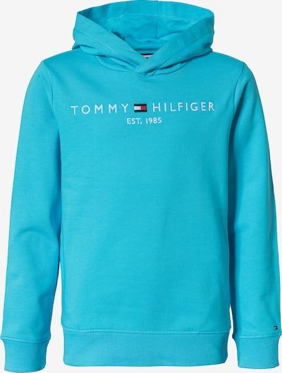 TOMMY HILFIGER Sweatshirt in himmelblau / weiß, Produktansicht