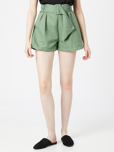 Pantaloni cutați Trendyol pe verde deschis, Vizualizare model