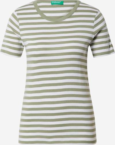 UNITED COLORS OF BENETTON Camiseta en caqui / blanco, Vista del producto