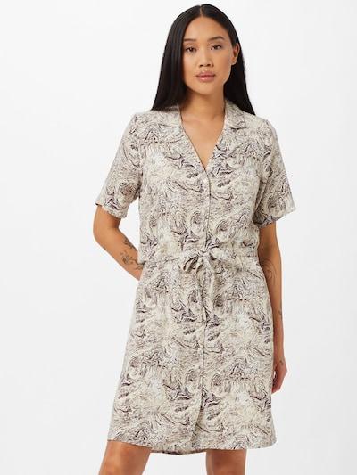 Rochie tip bluză 'KINNA' OBJECT pe bej / ciocolatiu, Vizualizare model