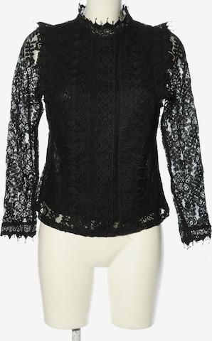 Fashion Spitzenbluse in S in Schwarz