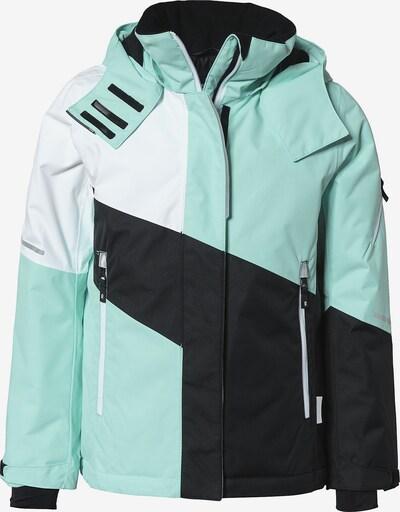 Reima Skijacke 'SEAL' in mint / schwarz / weiß, Produktansicht