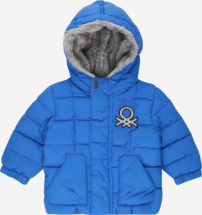 UNITED COLORS OF BENETTON Zimska jakna | modra / črna / srebrna barva, Prikaz izdelka