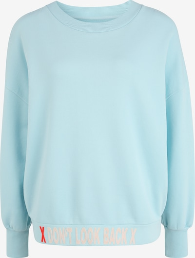 PAUL X CLAIRE Sweatshirt 'DON'T LOOK BACK' in de kleur Blauw / Turquoise, Productweergave