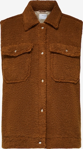 SELECTED FEMME Vest 'Jany' i brun