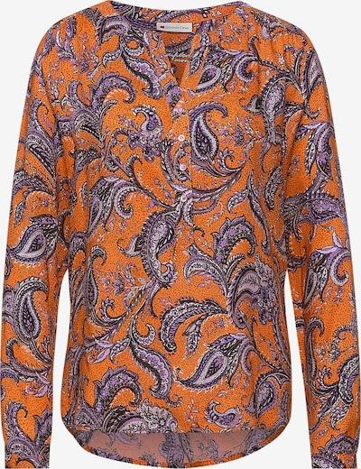 STREET ONE Bluse 'Bamika' in creme / helllila / dunkelorange / schwarz / weiß, Produktansicht