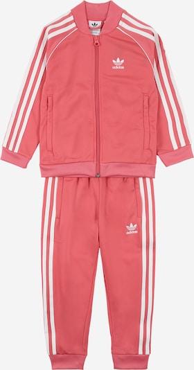 ADIDAS ORIGINALS Jogginganzug in rosa / weiß: Frontalansicht