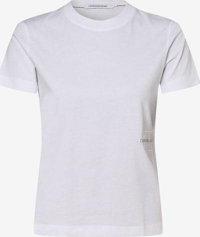 Tricou Calvin Klein Jeans pe alb, Vizualizare produs