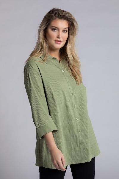 Ulla Popken Bluse in grün, Modelansicht