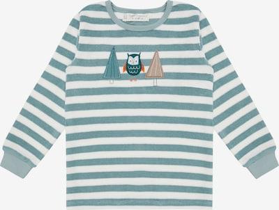 Sense Organics Schlafanzug 'LONG JOHN RETRO' in blau / weiß, Produktansicht