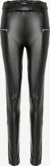CIPO & BAXX Glänzende Leggings mit Ledertaschen in schwarz, Produktansicht