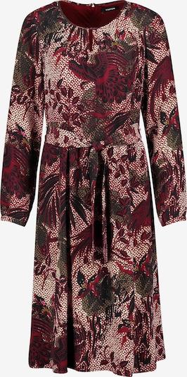 TAIFUN Kleid in khaki / kirschrot / schwarz / weiß, Produktansicht