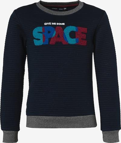 LEMON BERET Sweatshirt in türkis / nachtblau / himmelblau / graumeliert / rotmeliert, Produktansicht