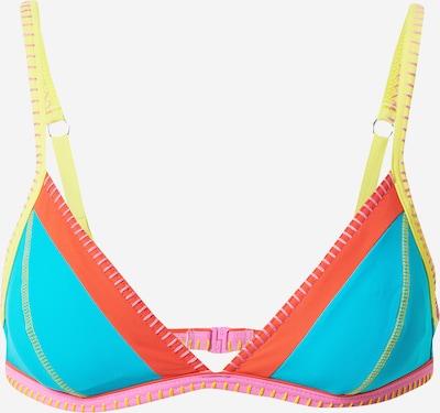 Top per bikini 'TAEKO TEKNICOLO' Banana Moon di colore blu neon / giallo / corallo / rosa, Visualizzazione prodotti