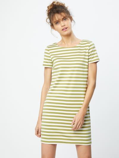 VILA Kleid 'Tinny' in oliv / weiß, Modelansicht